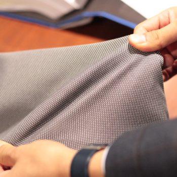 ドレス仕立てのジャージージャケット