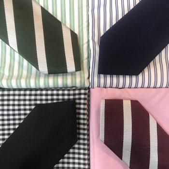 一緒にネクタイを選んでみてはいかがでしょうか。