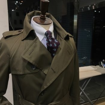 オーダーならではのコート。