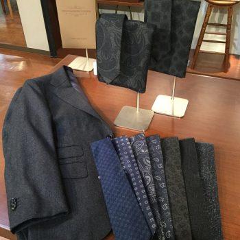 スーツ生地でネクタイやマフラーを別注!