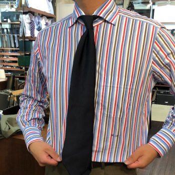 シャツが出来あがりましたvol.2(Eccentric Multi-stripe Shirts)
