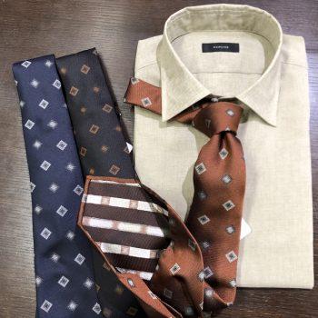オススメネクタイとリネンシャツ。