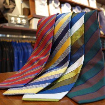 来季を彩る新作ネクタイ。