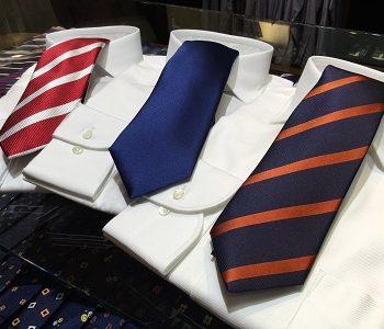 今日は何色のネクタイで出掛けますか?