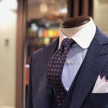 【秋冬新作サンプル】No.3 ブルーグレー スーツ