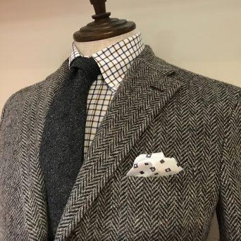 Harris Tweedでジャケットを仕立てる。