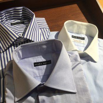 シャツフェアおすすめ生地+ネクタイ